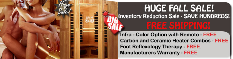 HUGE Infrared Sauna Sale!