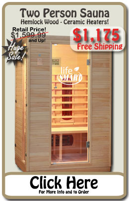Premium 2 Person Infrared Sauna - SALE!
