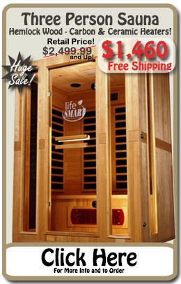 Premium 3 Person Infrared Sauna - SALE!