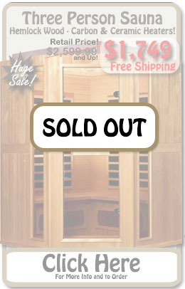 Premium 3 Person Infrared Corner Sauna - SALE!